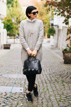 gray CREAM of Scandinavia sweater - black Mexx bag - black Reebok sneakers