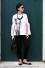H-m-pants-sisley-bag-zara-flats-h-m-blouse