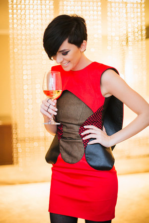 silver lindex bag - red Tamara Jarić dress - black lindex ring