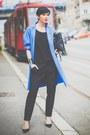 Blue-chic-coat-black-oviesse-bag-black-aldo-heels-black-fracomina-heels