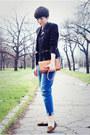 Navy-zara-jeans-black-sheinside-blazer-tawny-oasap-bag