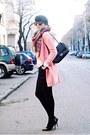 Pink-sheinside-coat-off-white-zara-sweater-black-woakao-bag