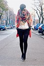 Pink-sheinside-coat-off-white-zara-sweater-black-woakao-bag