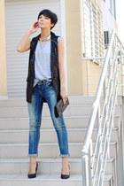 GlamYoucom vest - Zara jeans - Stradivarius bag - Zara pumps