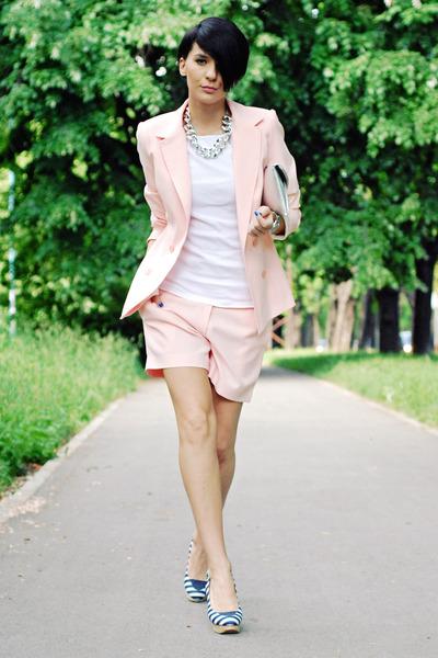 handmade suit - PSFashion bag - naughty monkey sandals - Zara blouse