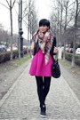 Hot-pink-oasap-dress-black-matthew-williamson-for-lindex-jacket