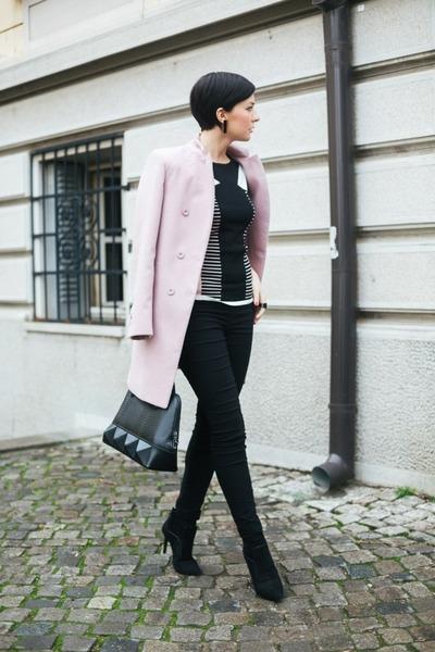 Jagger coat - ShoeStar boots - Mexx bag - MORGAN t-shirt - Orsay pants