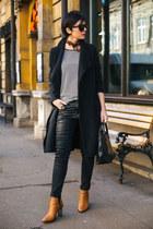 Aldo boots - Zara coat - Mexx bag - Freyrs sunglasses - desigual pants