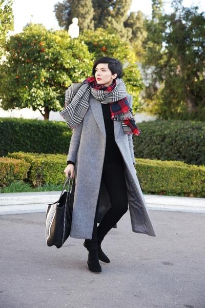 Choies coat - Zara sweater - shein scarf - H&M pants