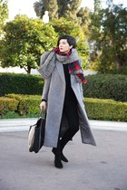 Choies coat - Zara sweater - shein scarf - H&M pants
