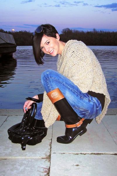 Tally Weijl sweater - Tommy Hilfiger boots - TRF jeans