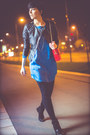 Black-momenti-boots-blue-aleksandar-zabunovic-dress