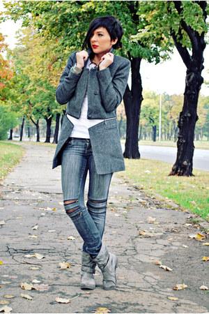 By Zoe coat - Krissbo boots - Jagger jeans - Zara blouse