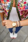 Hot-pink-sheinside-jacket-white-new-yorker-shirt-blue-us-polo-pants