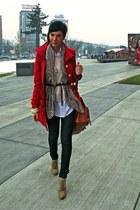Zara shoes - Tally Weijl coat - Zara jeans - Mango bag - Zara blouse - Zara belt
