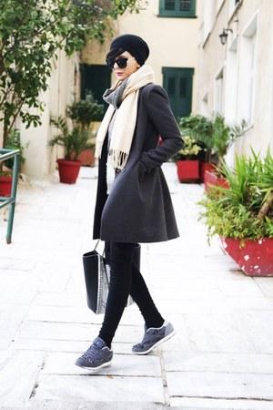 Zara hat - sweater - zeroUV sunglasses - Reebok sneakers