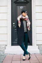 camel Zara scarf - black Zara shoes - black Tamara Jarić coat
