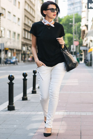 white CREAM of Scandinavia pants - white Studio Glina ring