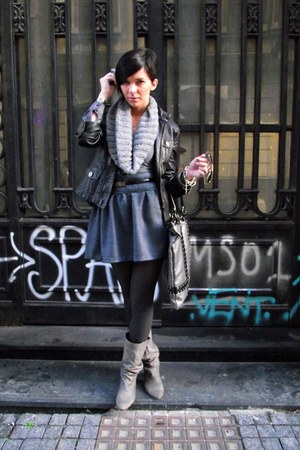 Hand Made skirt - Zara boots - Oviesse jacket - Stradivarius bag