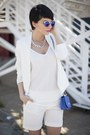 White-new-yorker-blazer-white-new-yorker-shirt-blue-new-yorker-bag