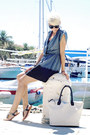 Dark-gray-love-dress-off-white-h-m-bag-black-naughty-monkey-sandals