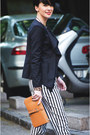 Black-sheinside-blazer-tawny-oasap-bag-white-sheinside-pants