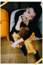Black-h-m-dress-black-h-m-shirt-black-reserved-socks-gold-h-m-pants