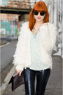 Sequin-blank-nyc-jeans-fluffy-nowistyle-jacket-geo-forever-21-necklace