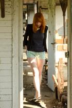 aquamarine flamingo print Primark shorts - black H&M blazer