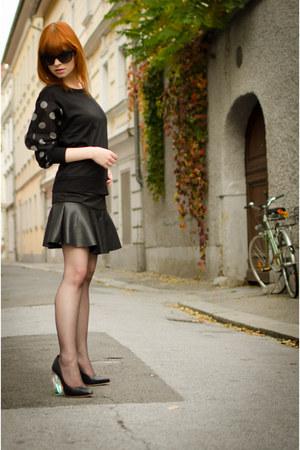 polka dot PERSUNMALL sweatshirt - christian dior sunglasses - PERSUNMALL skirt