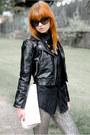 Black-faux-leather-h-m-jacket-black-mens-vintage-shirt-white-vintage-bag
