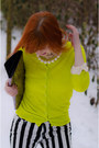 Yellow-neon-forever21-cardigan-black-pointed-wedge-h-m-boots