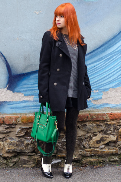 green nowIStyle bag - black military customised coat
