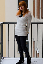 black glitter H&M jeans - black suede Zara boots