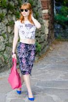 nowIStyle bag - Ray Ban sunglasses - paisley nowIStyle skirt - SMH heels