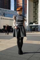 heather gray feather silvian heach dress - black H&M bag