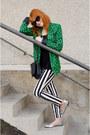 Green-geo-pattern-primark-blazer-black-christian-dior-sunglasses