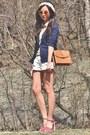 Brown-asos-bag-white-shorts-red-heels-yellow-top