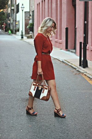burnt orange Ferne Boutique dress