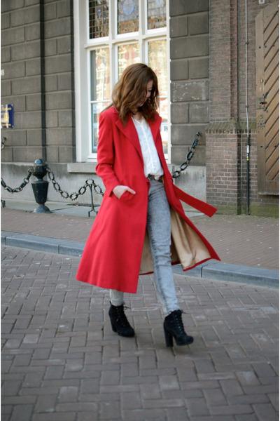 vintage coat - Primark heels