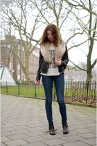 River Island boots - H&M jeans - Brandy Meiville shirt
