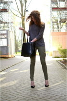 Local store jeans - we sweater - romwe bag - Nelly heels