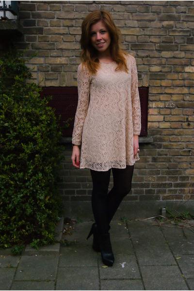 Cream Creme Lace Monki Dresses Black Platform Asos Heels Lace