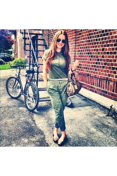 flats Michael Kors shoes - army Lacoste shirt