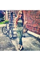 flats Michael Kors shoes - army Lacoste shirt