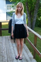 American Apparel top - joe fresh style sweater - BB Dakota skirt