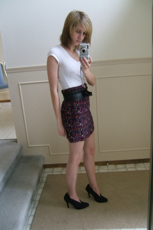 garage shirt - Urban Outfitters skirt - Gap belt - le chateau shoes