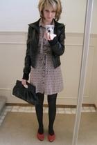le chateau jacket - H&M dress - thrifted shoes - le chateau purse