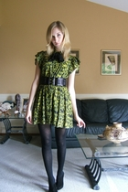 forever 21 dress - forever 21 belt - joe fresh style tights - Nine West shoes