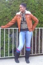Target jacket - Madden Girl boots - Old Navy jacket - Target socks - Target sock